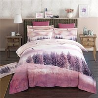 Wholesale Duvet Wool - hometextile bed sheet four pieces bedding set queen king size wool hempn fabric with reactive printing good fastness 3D photo printing 1600