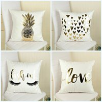 Wholesale Pineapple Home Decor   Cushion Cover Creative Pineapple Printing  Pillow Case For Home Sofa Decor