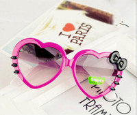Wholesale Sunglasses Hello - Fashion Cute Hello Kitty Sun Glasses For Kids Peach heart sunglasses Plastic Frame Sunglasses Girls Boys Baby Best Gift