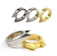 Wholesale Self Defense Ring Jewelry - 2017 EDC Tools Outdoor Self Defense Alloy Rings Survival Cat Ear Ring Mens Womens Finger Jewelry Broke Window Tool