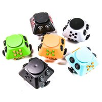 Wholesale 2017 Magic Fidget Spinner Cube Anti anxiety Decompression Toy Multi Function Adults Stress Relief Kids Toy Gift Free Shipment