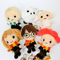 "Wholesale dolls harry potter - Top New 6 Styles 4""-5.5"" 10CM-14CM Harry Potter Stuffed Doll Ron Malfoy Hermione Dobby Hedwig Keychains Pendants Soft Gifts Plush Toys"