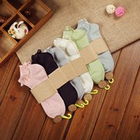 Wholesale Ordering Bamboo Cotton Wholesale - All-Match Women's Bamboo Fiber Socks Slippers 6 Colors Elastic 144 Knitting Needles Ladies Sock Wear Soft Lace Socks Single Or Mix Order