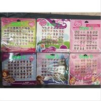 Wholesale sheets for girls - 10 sheets Girl Jewellery Accessories Sticky Earring Stickers Gems 24 Pairs Sheet