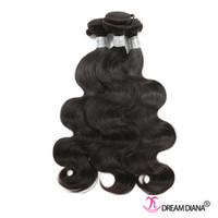 Wholesale diana weaves for sale - Group buy Brazilian Virgin Hair Bundles Body Wave Cheap Hair Extensions Bundles Brazilian Human Hair Weave Natural Color Double Weft DREAM DIANA