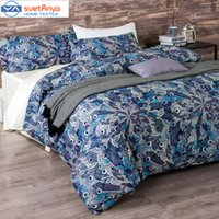Wholesale King Doona Covers - Wholesale-100% egypt Cotton Bedlinen Luxury bedclothes King Queen double size bedcover Doona duvet cover sheet pillowcase 4pc bedding set