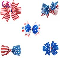 4th Of July Hair Hair Hair Clips Accessoires Vente en gros Glitter Elastic Hair Ties Metallic For Girl Kids