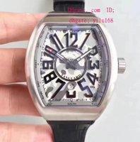 Wholesale Dive Eta - Top quality Men's Wristwatch Sapphire Mens Tonneau Eta 2824 Swiss Watches Vanguard V45 SC DT Glacier Dive Leather Geneva Racing Wristwatch