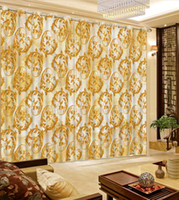 Wholesale Custom Modern Blackout Curtain fashion pattern Curtains For Bedroom living room Window Curtains