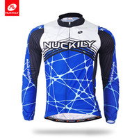Wholesale Cycling Jersey Long Sleeve Summer - Nuckily Wholesale design your own blue long sleeve cycling jersey for summer men's compressed long sleeve bicycle shirt MC012