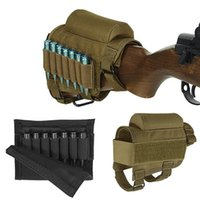 Wholesale Holder Guns - Tactical Nylon Ammo Buttstock Shell Holder Cheek Rest Case Pouch Holster for Hunting Rifle Shooting Gun .308 or .300 Winmag