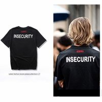 Wholesale Dress Shirt Style Black - 2017 INSECURITY Brand Summer Dress Casual Men Women Popular Style Short-sleeved Harajuku 100% High Quality Fitness T-shirts S-XL