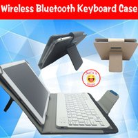 Wholesale Keyboard Cover Thinkpad - Wholesale-Wireless Bluetooth Keyboard Case Cover For Lenovo Idea Tab A10-70 A7600 for Lenovo Thinkpad 10 Miix2  S6000 10.1 inch tablet