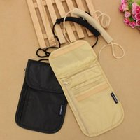 Wholesale Low Price Clothing Free Shipping - Wholesale- 2017 Wallet Security Under Clothes Neck Wallet Money Document Card Passport Pouch Holder Free Shipping LOW PRICE