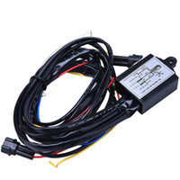 Wholesale Dimmer Relay - LED DRL Daytime Running Light Relay Harness Controller On Off Dimmer Car DRL Daytime Running Lights DC 12V 30W Synchronous Steering Function
