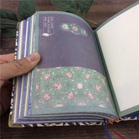 Wholesale Flower Illustrations - Wholesale- Retro vintage Notebook paper thicken books art diary memos colorful flowers printing Notepad design Stationery illustration XM