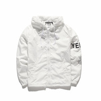 Wholesale Double Jacket Coat - YEEZUS Jackets Men Women Top Version Brand Clothing kanye west Trench Coats Autumn Fashion Windbreaker suprem Skateboard Double-deck Hood