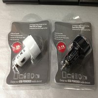 Wholesale Dual Usb Pull - micro usb adapter Best Quality Pull Ring Mini 2 Port Bullet USB Dual Car Charger 3.1A For Smart Phone,Mobile phone,with package