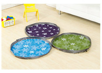 Wholesale Children Playing Basketball - High Quality 80cm Play Mat Large Portable Toy Storage Bags For Kids Children Infant Baby Playing Mat Organizer Blanket Rug Boxes Easy