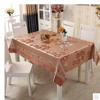 Wholesale 2017 New PASAYIONE Waterproof Table Cloth With Flower Pattern Thick PVC Waterproof Wipe Clean Table Cover Protector Home Textile