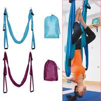 yoga swing оптовых-Оптово-Чувственные покупки / Воздушная Йога-Гамак Качели-подвески Гамак-трапеция
