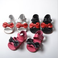 Wholesale Wholesale Korean Sandals - Summer Girls Sandals New Korean Butterfly genuine leather Infant Princess beach Sandals Cute Bow Newborn First Shoes Toddler footwear C1597