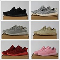 Wholesale Tan Mens Shoes - 2017 350 Boost Shoes Best Quality Cheap Pirate Black Turtle Dove Moonrock Oxford Tan Hot Womens Mens Shoes Kanye West Boost 350 With Box