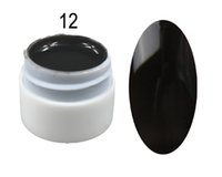 uv jel tencere toptan satış-Toptan-1 Pot 6 ml Hacmi Saf Katı UV Jel Renk Nail İpuçları Parlak Kapak Uzatma Manikür DIY # A6612 Için