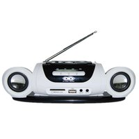 Wholesale protable mp3 player for sale - Mini Protable Radio FM Receiver Stereo Speaker with USB Disk SD Card MP3 Music Player Rechargeable Battery Radio Recorder White