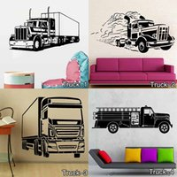 autocollants muraux n'importe quel nom achat en gros de-Monster Truck Personnalisé n'importe quel Nom Kids Bedroom Wall Sticker Enfants Vinyl Decal decor sticker Livraison gratuite