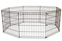 Wholesale black iron cage for sale - Group buy 24 Black Tall Dog Playpen Crate Fence Pet Kennel Play Pen Exercise Cage Panel