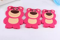 Wholesale Korea Cartoon Covers - Back Cover For iPhone 6 4.7 inch iphone 6 plus iphone 5 5s New Cute Cartoon Case South Korea strawberry bear Cellphone