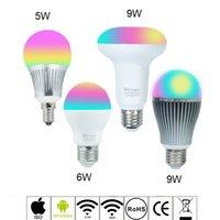 Wholesale 2 G Wireless Mi Light RGBW RGBWW Dimmable LED Bulb W W W AC85 V E14 E27 Par30 Led Lamp Wifi Control LED light