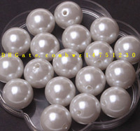 Wholesale Brilliant Necklace - ABS imitation pearl 4,6,8,10,12 mm jewelry accessories necklace acrylic beaded bracelet sweater chain