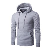 Wholesale Fleece Overalls - Wholesale-Man sets new hot autumn winter fleece jacket overalls hoodies personality big pocket sportswear,Grey black red blue, and purple