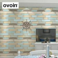 papel pintado moderno del ladrillo textured para el panel de madera del vinilo de la pared
