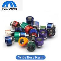 Wholesale Bearing For Micro - Wide Bore 510 Epoxy Resin Drip Tip Plus Stainless Steel Drip Tips for 510 Tanks Melo 2 3 Nano Mini Micro TFV4 Mini