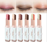 sombra de ojos diferente al por mayor-NOVO sombra de ojos de color 6 colores diferentes 3.8g terciopelo color de degradado Eyeshadow Stick 120pcs / lot DHL
