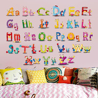 Wholesale Wholesale Alphabet Wall Letters - Wall Stickers English Letter Alphabet Mural Creative Puzzle Eco Friendly Wallpaper Art Home Decor Decal Hot Sale 3dz J R