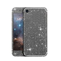 Forage Bling Pas Cher-Bling Autocollant Pour IPhone 7 6 6 s plus Samsung Plein Corps Diamant Noble Isolation Autocollant avec exquis forage mobile film coque retailpackage