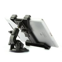 Wholesale Car Inch Gps Holder - Wholesale-360 Rotating Car Back Seat Headrest Mount Bracket Holder Stand Bracket Kit for for iPod iPad GPS 7 to11 inch Tablet PC
