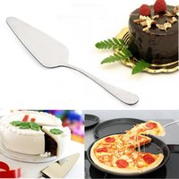 Wholesale Stainless Cutter For Cakes - New Stainless Steel Toothed Cheese Cake Cutter Pizza Pie Server Cutting Shovel For Cake Accessories