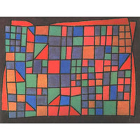 Wholesale Glass Paul - Glass Facade by Paul Klee Oil Painting abstract art High quality Hand painted