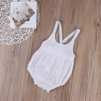 Wholesale Trendy Rompers Jumpsuits - Hot Selling Baby Rompers 2017 Trendy Newborn Kid Girls Pure White Clothes Suit Lace Floral Romper Jumpsuit Outfit Sunsuit Clothing Wholesale