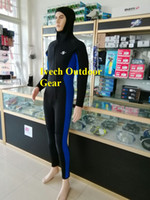 Wholesale Wetsuit 2xl - New Hoody 5MM Neoprene Snorkeling Body Suit black Spearfishing Wetsuit for men size S-2XL free shipping