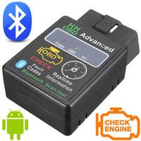 Wholesale Obd Data - 5Pcs HH OBD Mini ELM327 Bluetooth V2.1 OBD2 Diagnostic Scanner elm 327 Bluetooth OBD II Diagnostic Tool Live Data Scan Tool Device