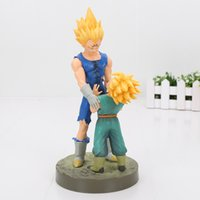 Wholesale doll scale - Dragon Ball Z Vegeta & Trunks Action Figure 1 8 scale painted figure Super Saiyan Ver. Trunks & Vegeta Doll PVC figure Toys 21cm