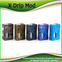 Wholesale e liquid x - Original Aleader X-Drip Epoxy Resin Squonk Box Mod with 7ml PET E-liquid Bottle Vape Unregulated Ecig Mods 100% Authentic