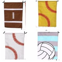 Wholesale Canvas Baseball softball soccer footable Printed Banner Flags Sport Garden flag Garden Outdoor Decorative Garden Flag KKA2212