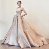 Wholesale Ball Gown Kim Kardashian - Evening dress Yousef aljasmi Labourjoisie Kim kardashian Ball gown Pink Satin Off shoulder Ball gown gianninaazar Kylie Jenner Zuhair murad